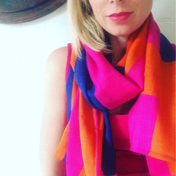 Marimekko Wool Silk Scarf by karlacola on Etsy