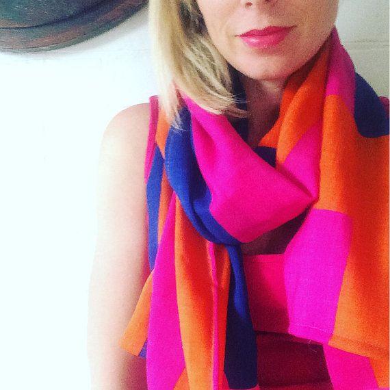 Marimekko Wool Silk Scarf by karlacola on Etsy