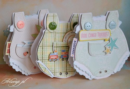 onesie baby cards - bjl