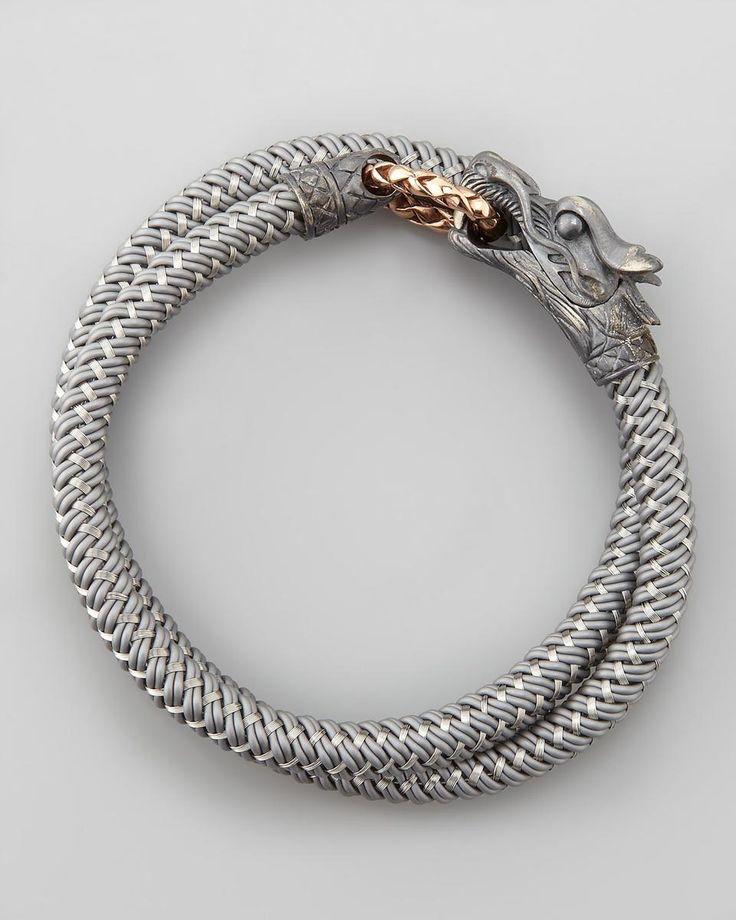 John Hardy | Naga Nylon Cord Wrap Bracelet, Gray #johnhardy #bracelet