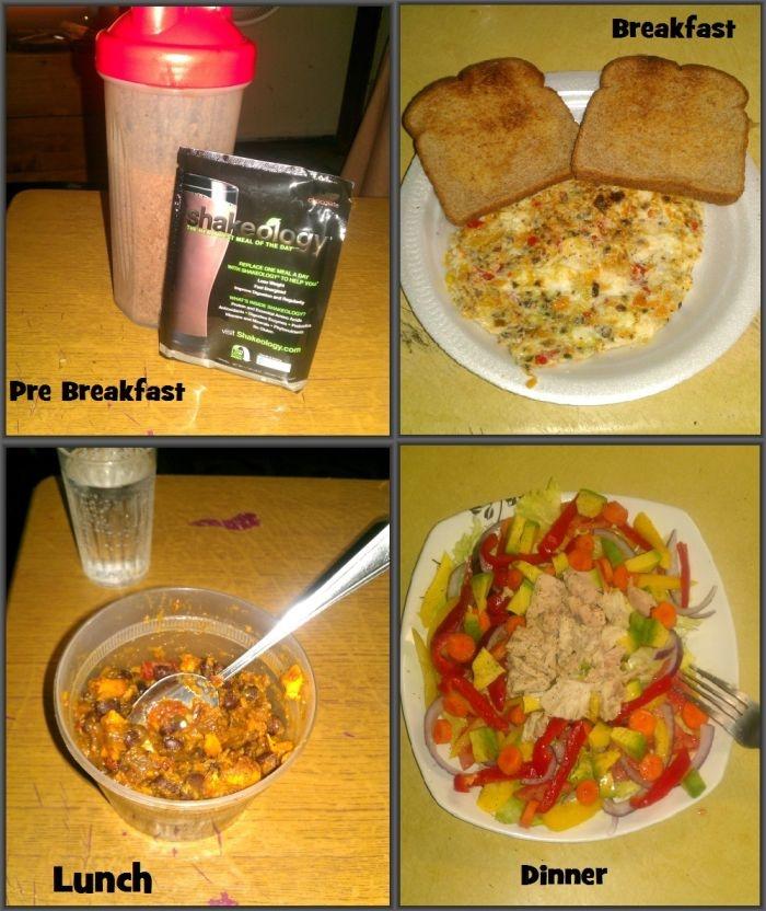 ... Black bean chili (left over from last night's dinner) 4: Dinner: Tuna