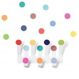 Perchero colgador topitos lunares colores alegres minimoi