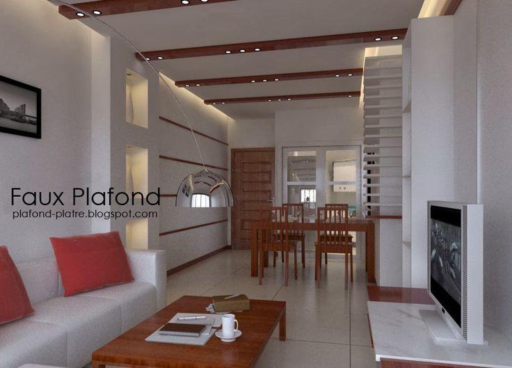Las 25 mejores ideas sobre faux plafond moderne en for Faux plafond salon moderne