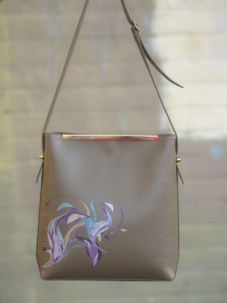 The Heidi bag, Multi coloured purple design