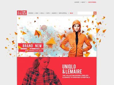 Uniqlo Website redesign concept