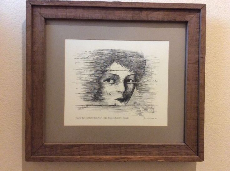 Artwork Pen & Ink Of Face On The BarRoom Floor Central City CO MG Pat Patterson  | eBay