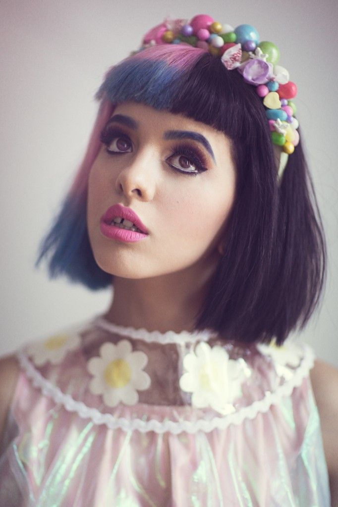 Melanie Martinez purple, blue and black (I'd have to