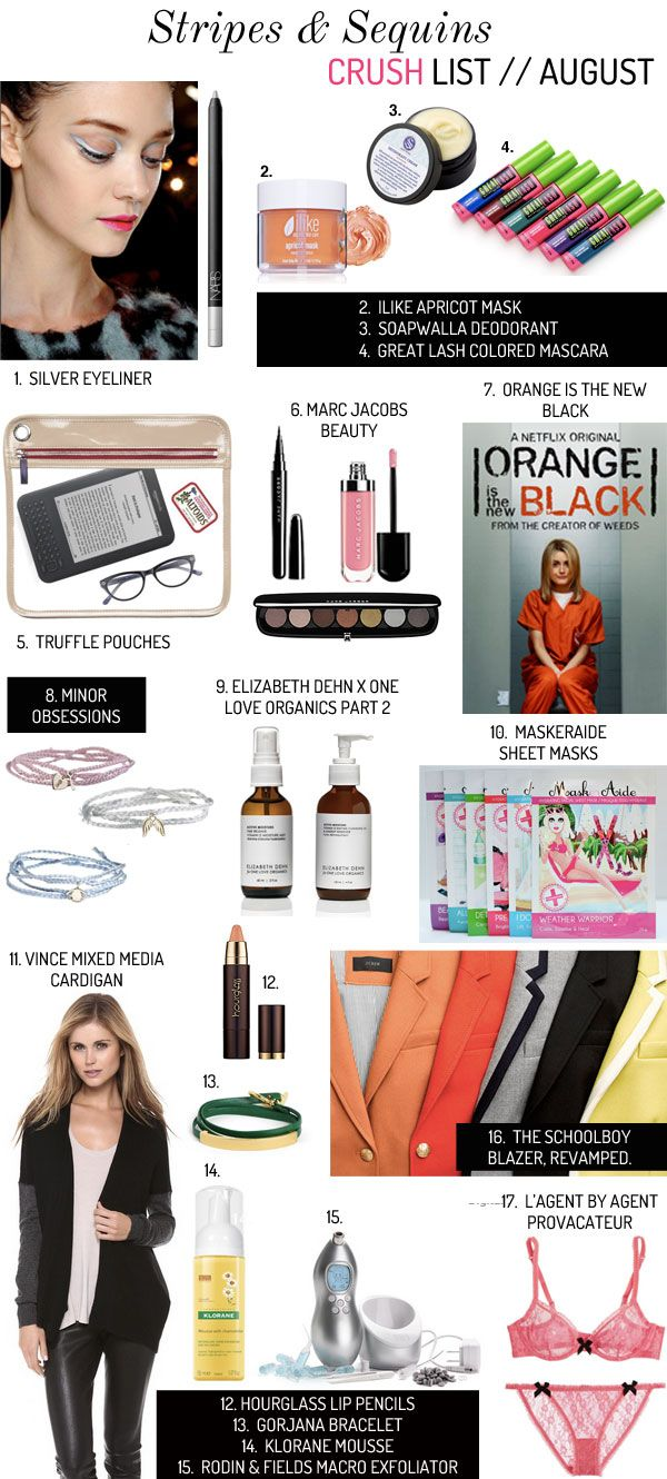 AUGUST-CRUSH-LIST. Grace is hitting the nail on the head here! So many good things.