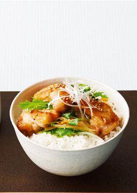 鶏肉とたっぷり野菜の和風サラダ丼 のレシピ・作り方 │ABCクッキングスタジオのレシピ | 料理教室・スクールならABCクッキングスタジオ