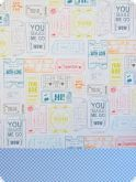 Carton cu 2 fete diferit imprimate, 30,5 x 30,5 - M15  - Happy Days - Docrafts