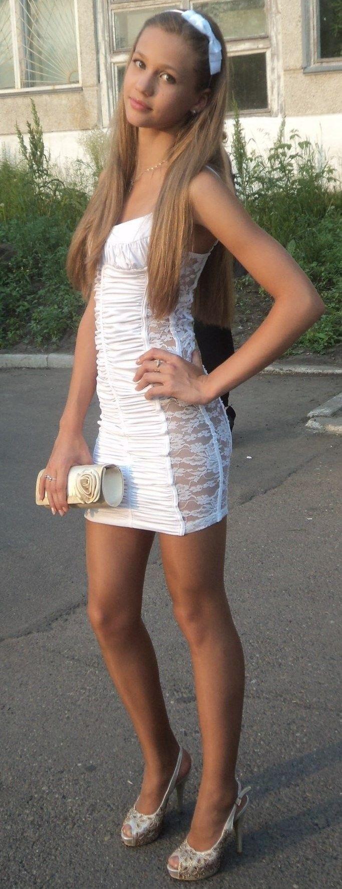 Jailbait white skirt, picture of three boobs