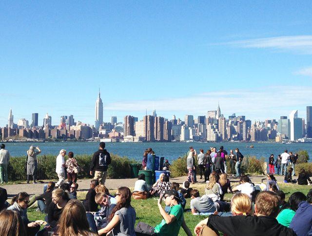 The view of Manhattan from Smorgasburg, Williamsburg