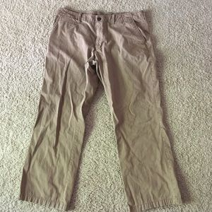 I just added this to my closet on Poshmark: Old Navy Khaki Slacks. Price: $15 Size: Waist 38 X Length 30