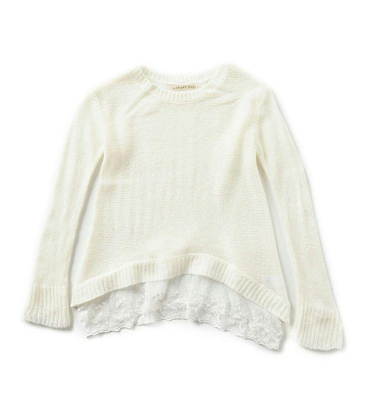 Lace sweater from Dillard's