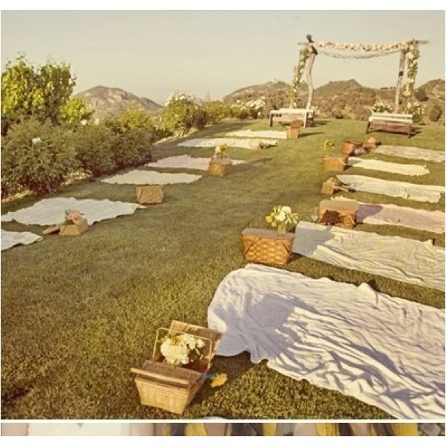 Picnic wedding this would be so simple &  inexpensive. I really like this idea