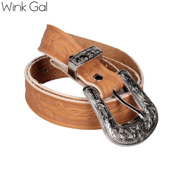 Wink Gal роскошный кожаный пояс с металлической пряжкой женский ремень из коровьей кожи качественный ремень для женщин 1890 купить на AliExpress