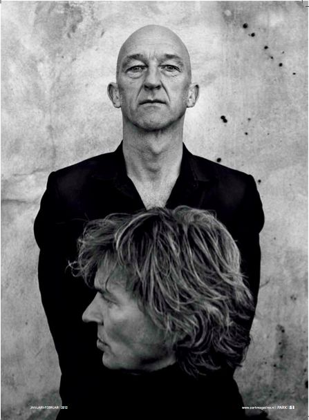 Anton Corbijn in PARK Magazine, shooting Matthijs van Nieuwkerk and Wilfried de Jong