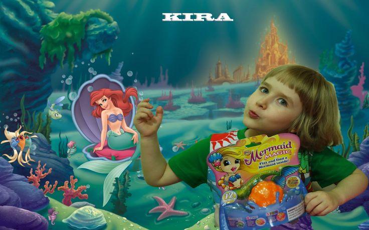 Кира распакует и спасёт Магическую Русалку Mermaid Magic : Mermaid Magic...