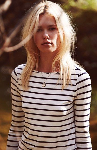 Amour Vert 'Francoise' Nautical Long Sleeve Top | Nordstrom