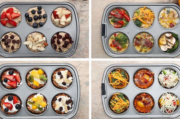 "Healthy Muffin Tin Breakfast - Damnit. I totally pinned another BuzzFeed ""article"""