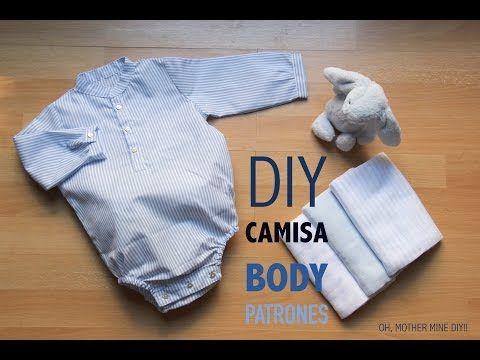 DIY Como hacer body camisa bebe (patrones gratis) - YouTube