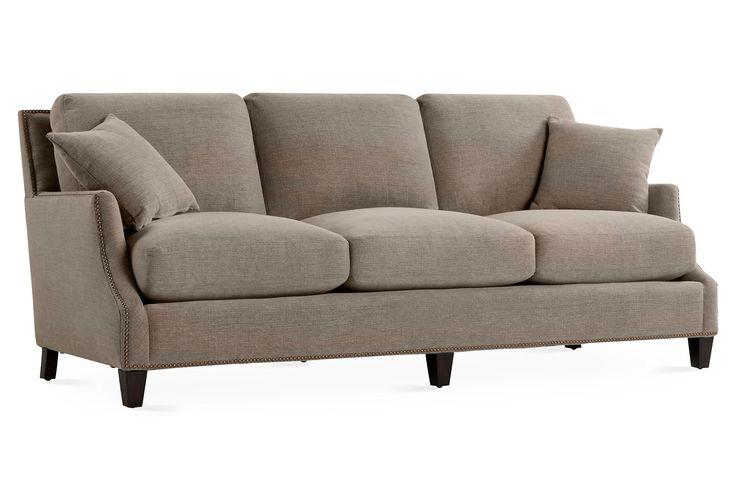 "Aldora 87.5"" Sofa, Taupe | One Kings Lane"