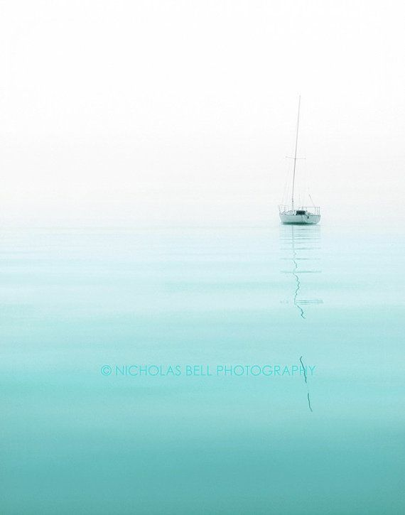 Photography / nautical / sailboat photography / minimalist / beach house decor / Nautical No. 1
