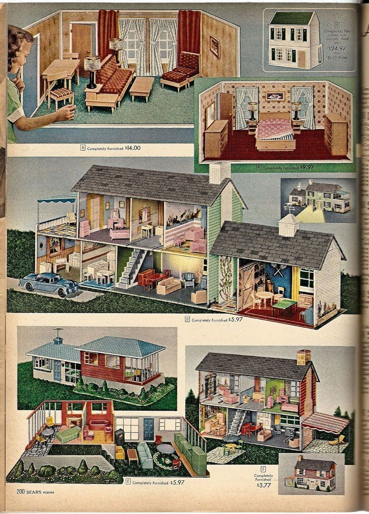1957 Sears catalogue I had the house in the middle! Never forget it! Loved, loved, loved it! Made by Marx.