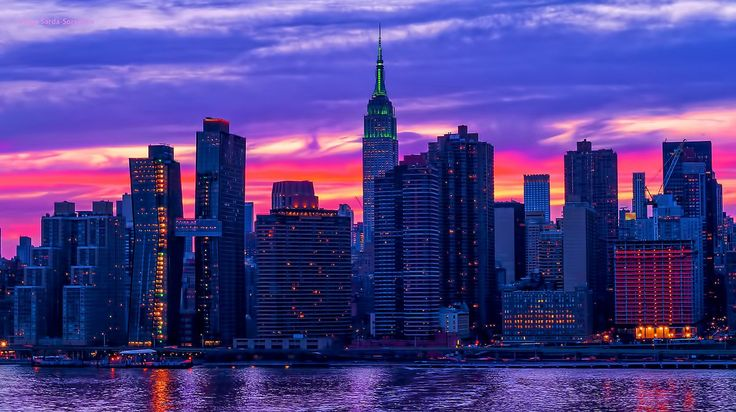 James Spann (@spann) | Twitter  Pretty pastel #sunset over the @EmpireStateBldg tonight in #NYC.