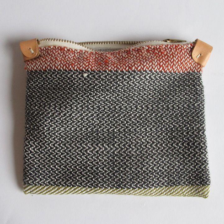 Image of Handwoven Zipper Pouch - Medium - No.2Pouch Inspiration, Pencil Pouch, Handwoven Zippers, Zipper Pouch, Zip Bags, Woven Pouch, Zippers Pouch, Accessories, Clutches Envy
