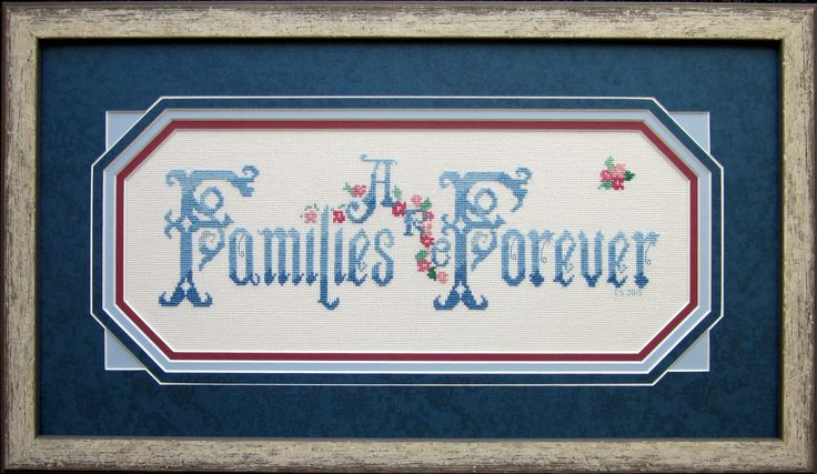 Image result for families are forever crossstitch