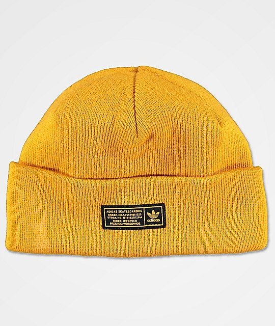adidas Joe Yellow Beanie  cdf5a253a48