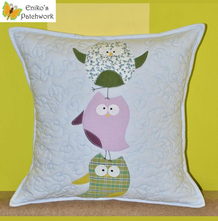bird pillow by Eniko's Patchwork -------------------- baglyos párna