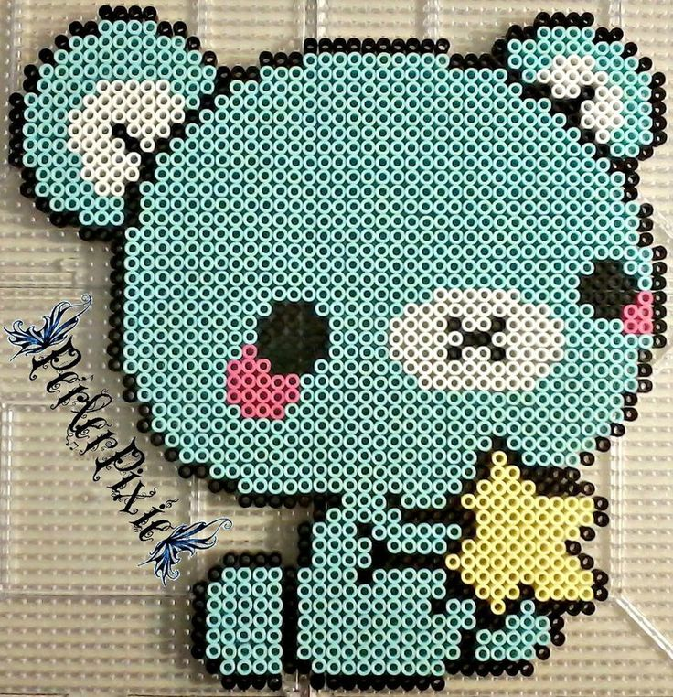 Aoikuma with star perler beads by PerlerPixie