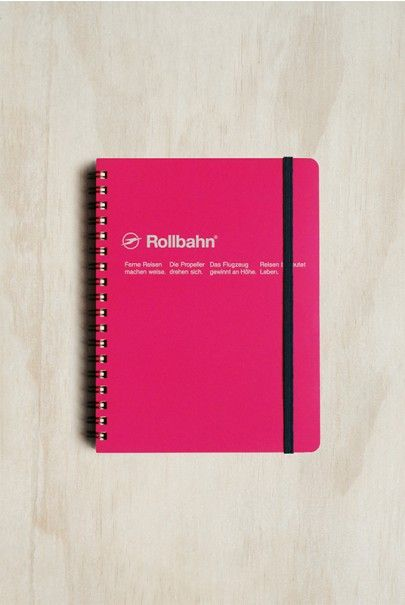 Delfonics - Rollbahn Notebook - Grid - Large (14x18cm) - Rose Pink