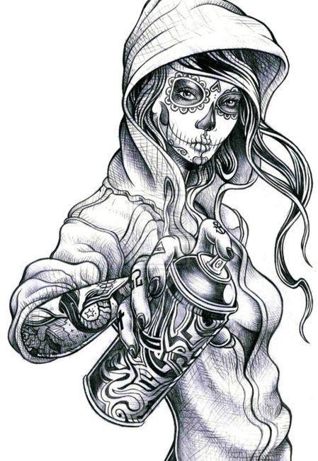 calavares lowrider art | Mexican Aztec Tattoos For Girls And Men Tattoo Design Tattoo - Ecro!