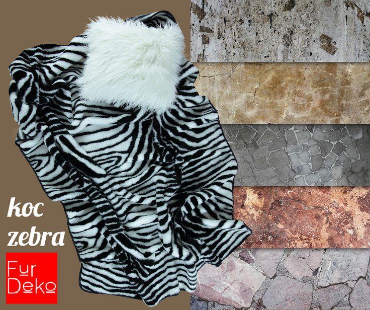 Zimno na dworze? Zimno w domu? Oto rozwiązanie   KOC ZEBRA z kolekcji FurDeko   ... i od razu będzie cieplej   --> http://bit.ly/1PIS1zC   www.FurDeko.pl