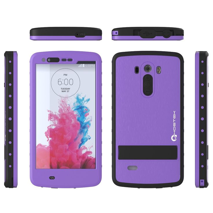 LG G3 Waterproof Case, Ghostek Atomic PURPLE W/ Attached Screen Protector  Slim Fitted  LG G3 D850 D851 D855 VS985 LS990 GHOCAS247
