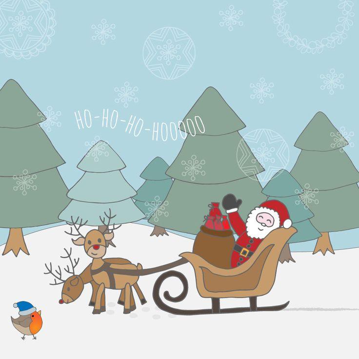 Santa on his way! #graphicdesign #santaclaus #handdrawn