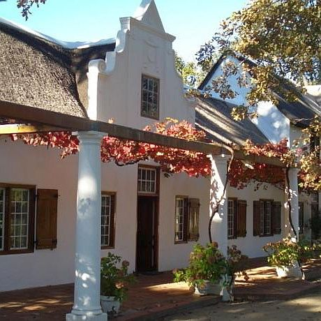 You may want to stay at a Groot Drakenstein guest house. This country house style accommodation features rooms in a historic Cape Dutch homestead or rustic cottages in a landscaped garden.