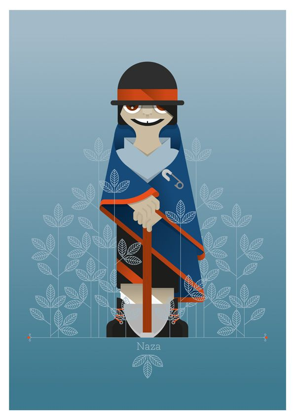 tribes of colombia. KInDianS colombian people illustration