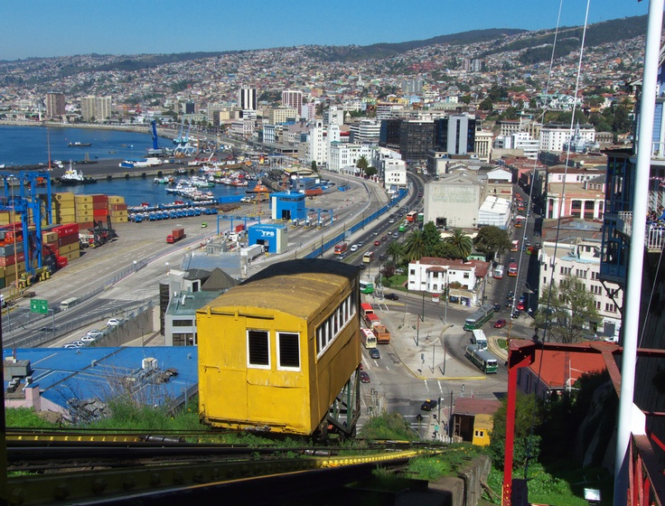 Valapariso, Chile was named a world heritage site because of its public transportation system. The 16 funicular elevators will probably be a more convenient option for getting to class for ESL teachers in Chile than the hilly cobblestone streets — and they add a colorful touch to the cityscape.