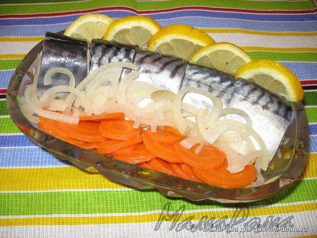 Маринованная скумбрия • Закуски рыбные