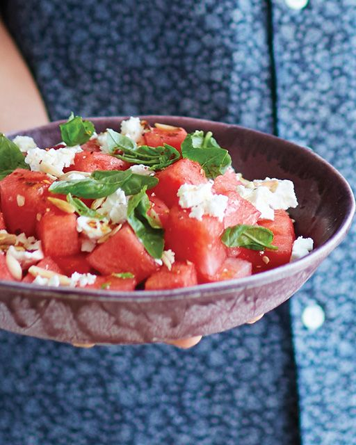 Watermelon & Feta Salad with Basil & Chili | Sweet Paul Magazine