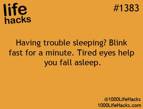 going to try this next time I have trouble sleeping...1000 Life Hacks
