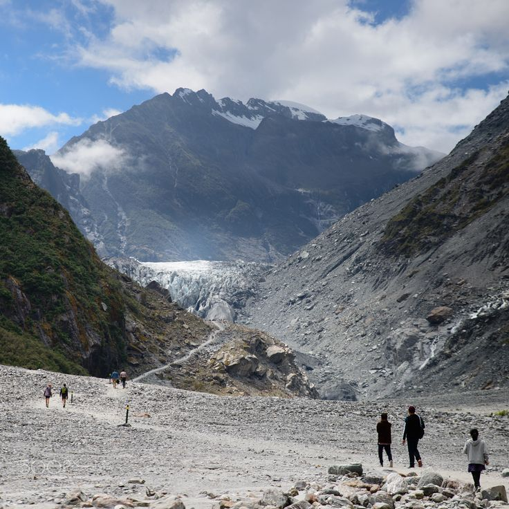 Fox Glacier - It's getting smaller than I was expected and differently smaller than last visit. Fox Glacier, South Island, New Zealand