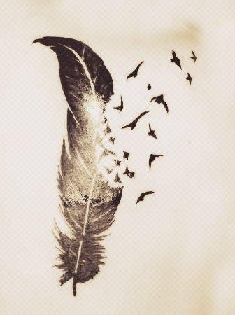 klaus tattoo feather - Google Search