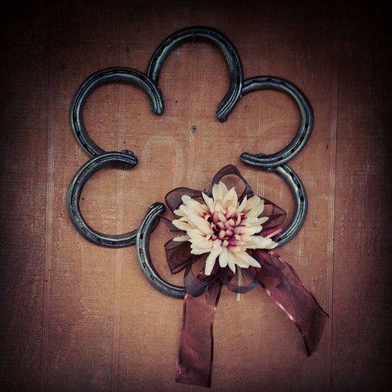 Check out this item in my Etsy shop https://www.etsy.com/listing/208869445/country-horseshoe-wreath-with-ribbon