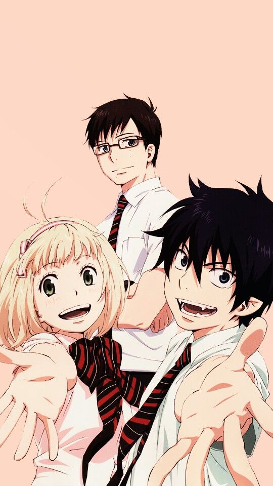 Rin, Yukio and Shiemi - Ao no Exorcist