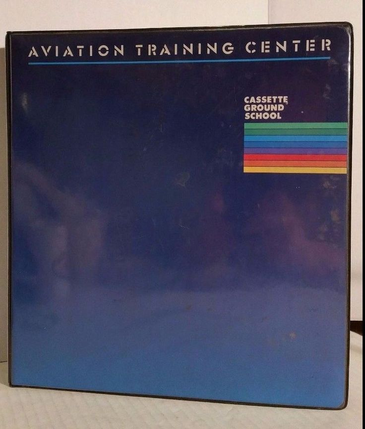 Vintage Aviation Training Center Manual Cassette Ground School - training manual